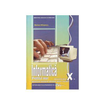 Informatică, manual pentru clasa a X-a, C++- profil real intensiv, specializarea matematică-informatică