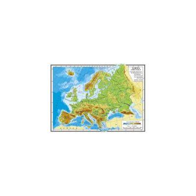Europa – Harta fizică A4 – Harta politică A4