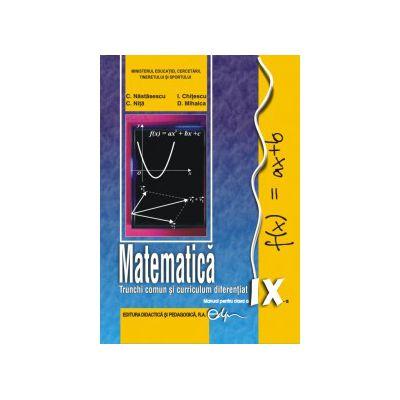 Matematică, manual pentru clasa a IX-a (TC+CD)