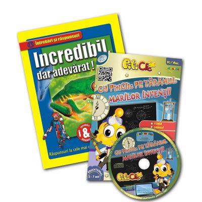 Incredibil dar adevărat + CD Piticlic pe tărâmul marilor invenţii