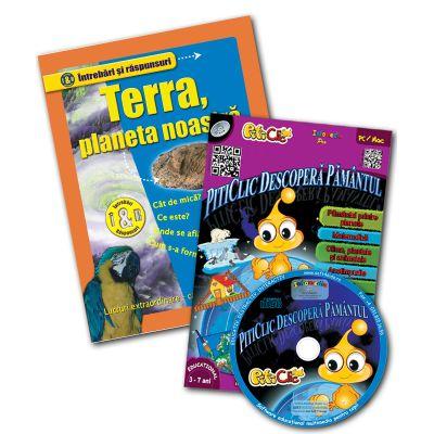 Terra planeta noastră + CD Piticlic Descoperă Pământul