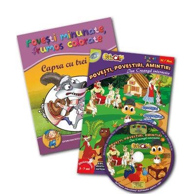 Capra cu trei iezi + CD Poveşti Ion Creangă